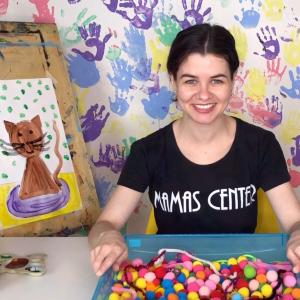 Baby-рисование для детей 1-3 года (вместе с мамой), Тема «Кошки». Доступ на 10 дней