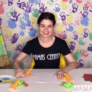 Baby-рисование для детей 1-3 года (вместе с мамой), тема «Динозавры». Доступ на 10 дней